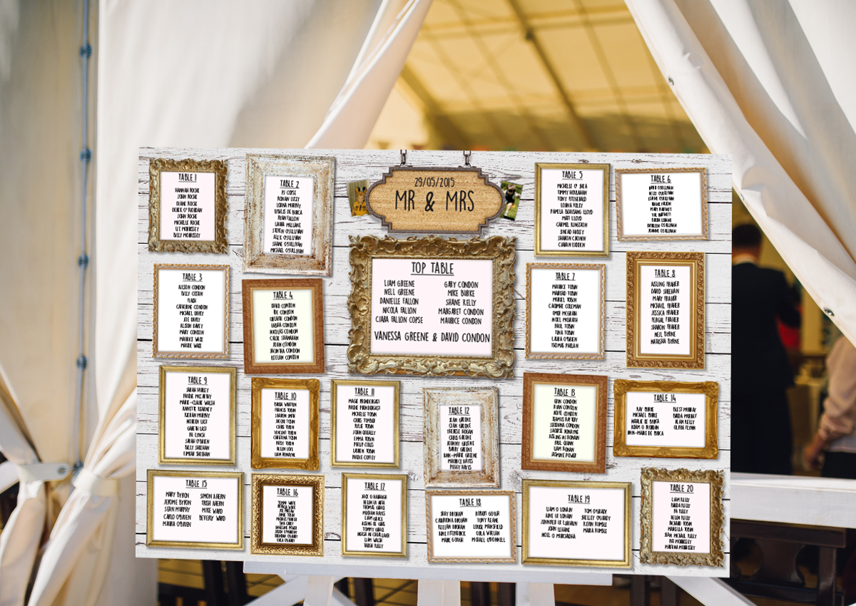 table plans � wedding scribblers