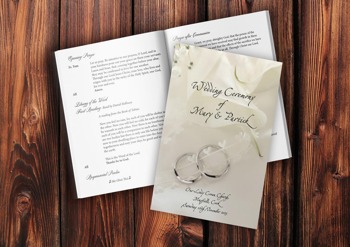 mass booklet templates - mass book ref 003 wedding scribblers