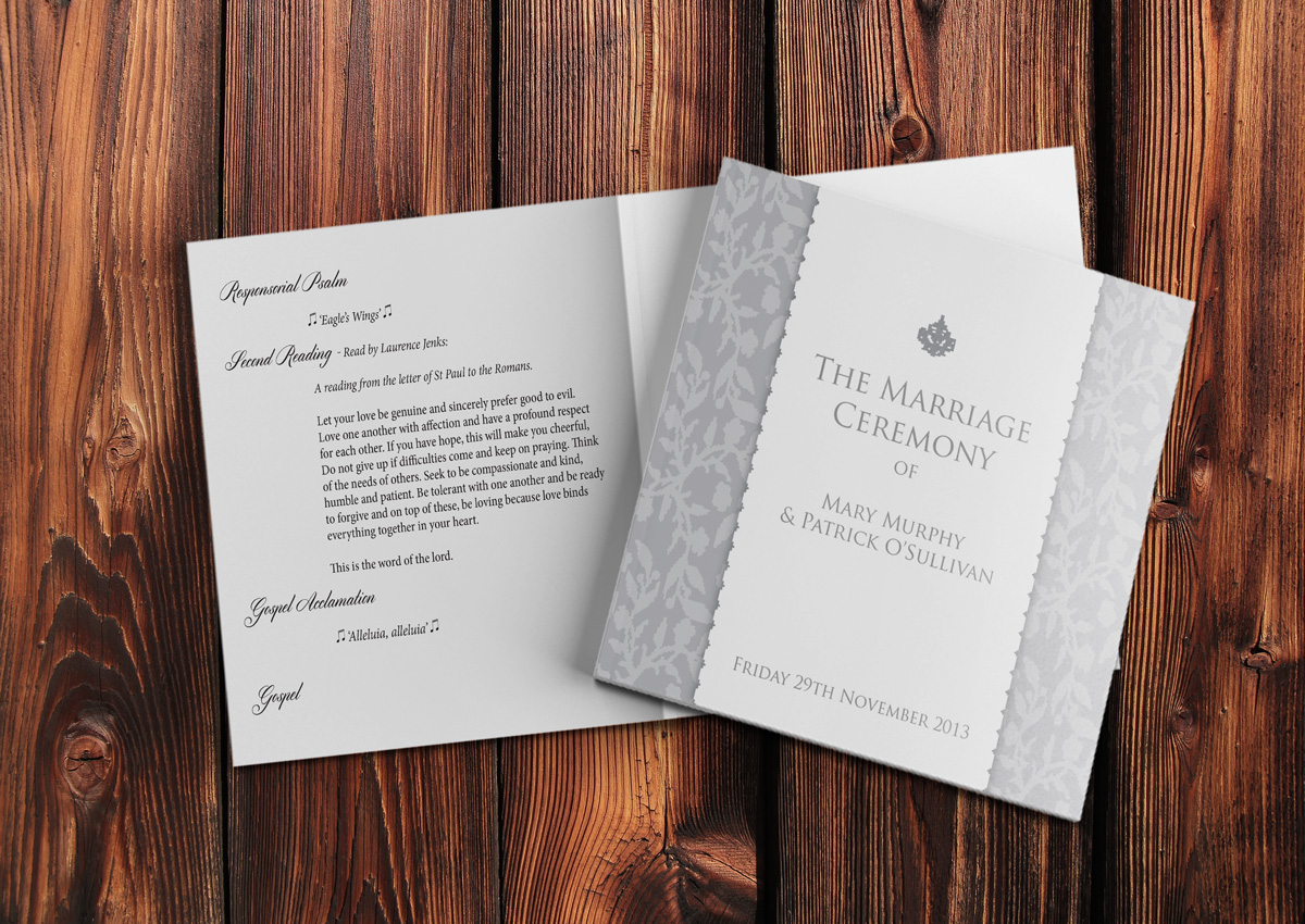 Modern Mass Booklet Template Composition - Professional Resume ...