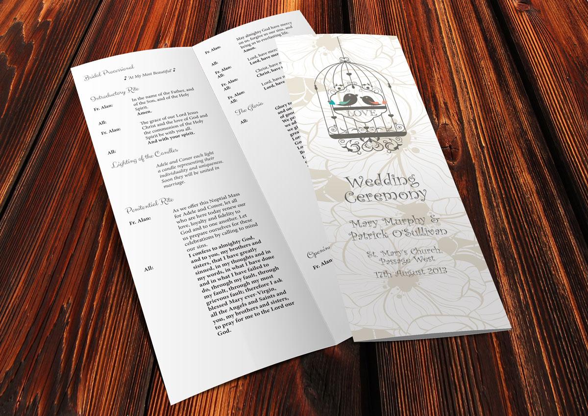 Mass Book (ref 007) – Wedding Scribblers